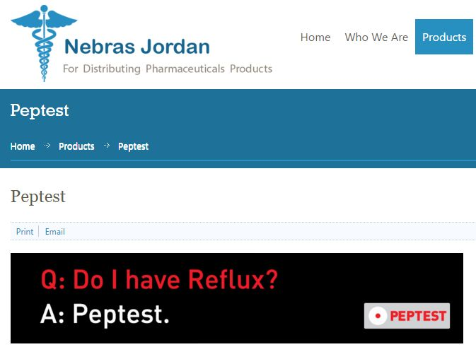 Nebras Jordan launches Peptest for reflux
