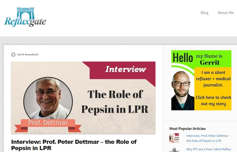 Peptest and Professor Dettmar interview on Refluxgate