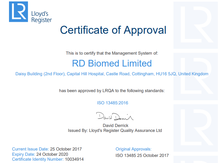Three cheers for ISO 13485 certification