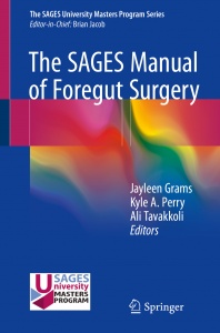 The SAGES Manual of Foregut Surgery